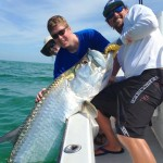 Capt. Gene and Client with a Giant Tarpon