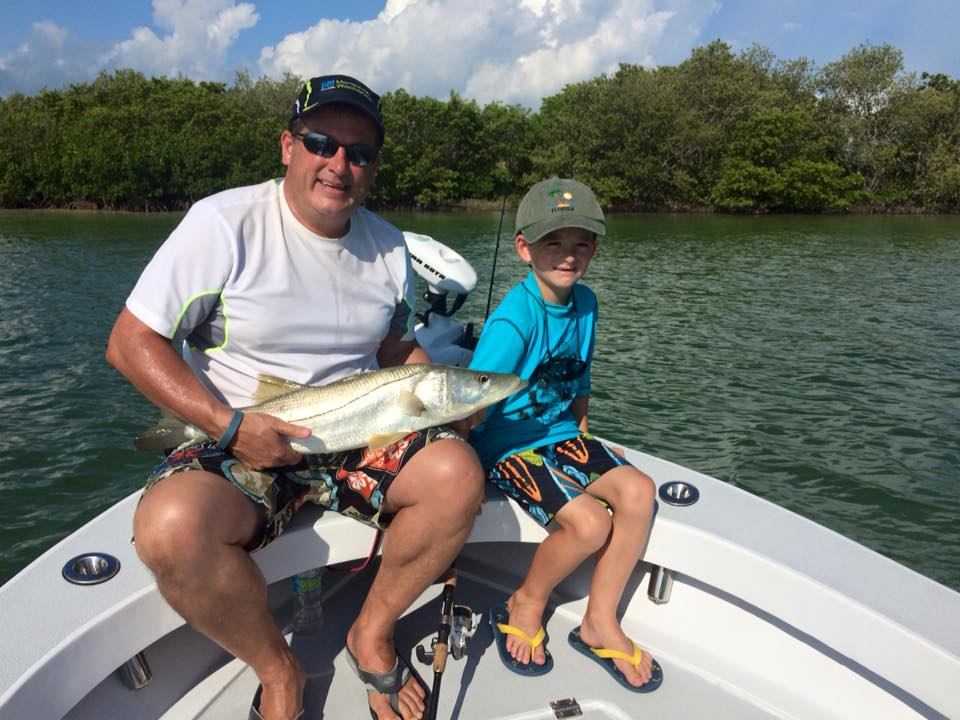 Tampa bay snook fishing on fire fishing charters st for Tampa bay fishing guides