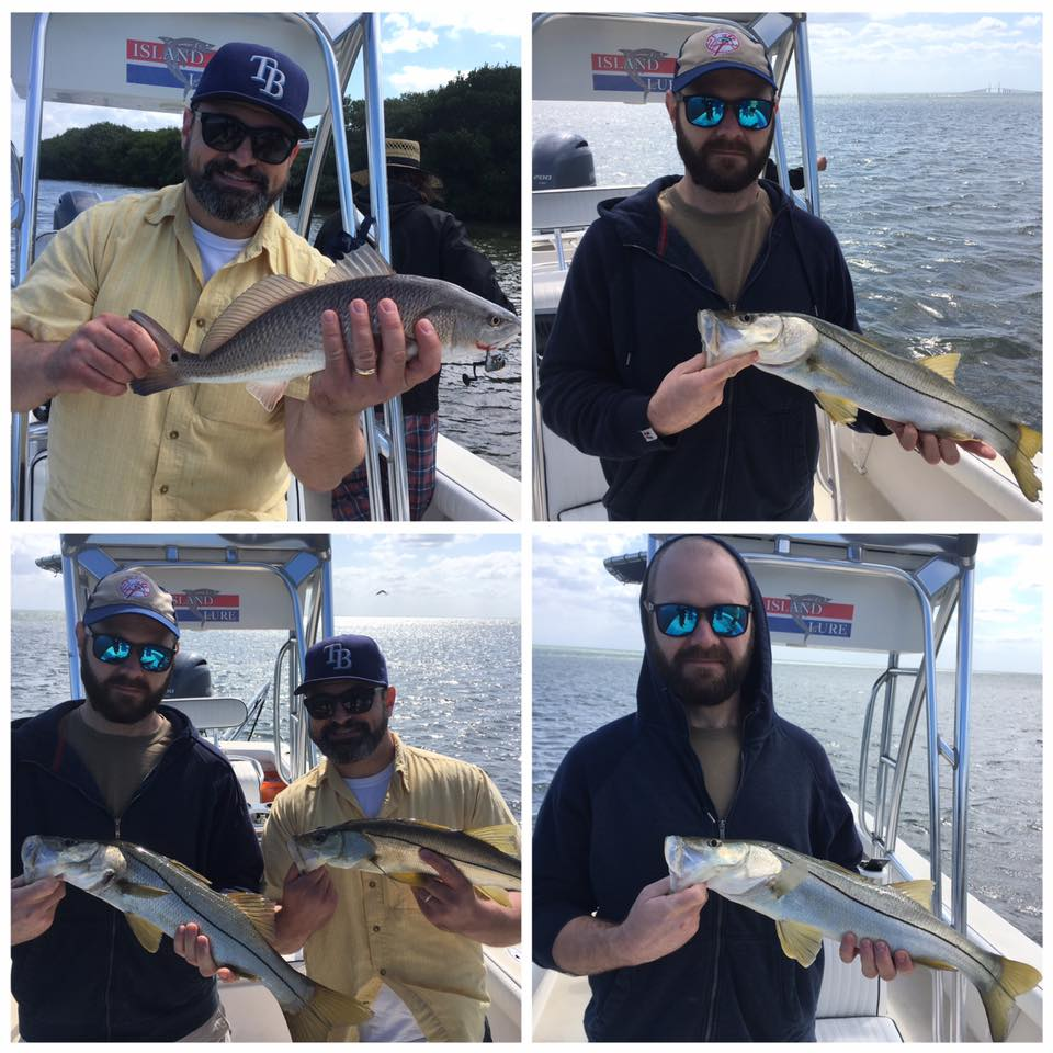 Tampa bay snook trout and redfishing fishing charters for St petersburg fishing charters