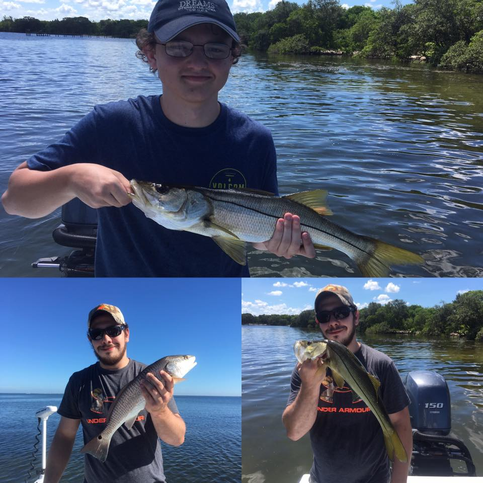 Tampa bay inshore snook and redfishing fishing charters for Tampa bay fishing guides